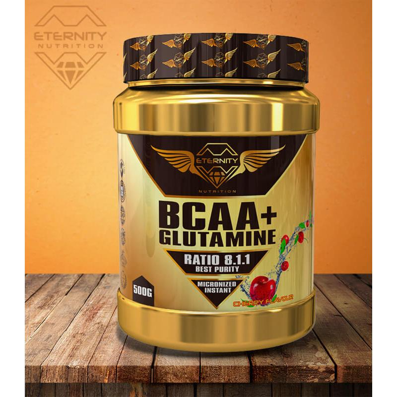 ETERNITY GLUTAMINA + BCAA 500GR. CEREZA
