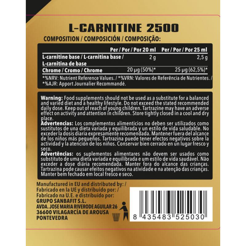 ETERNITY CARNITINA CROMO 500ML NARANJA