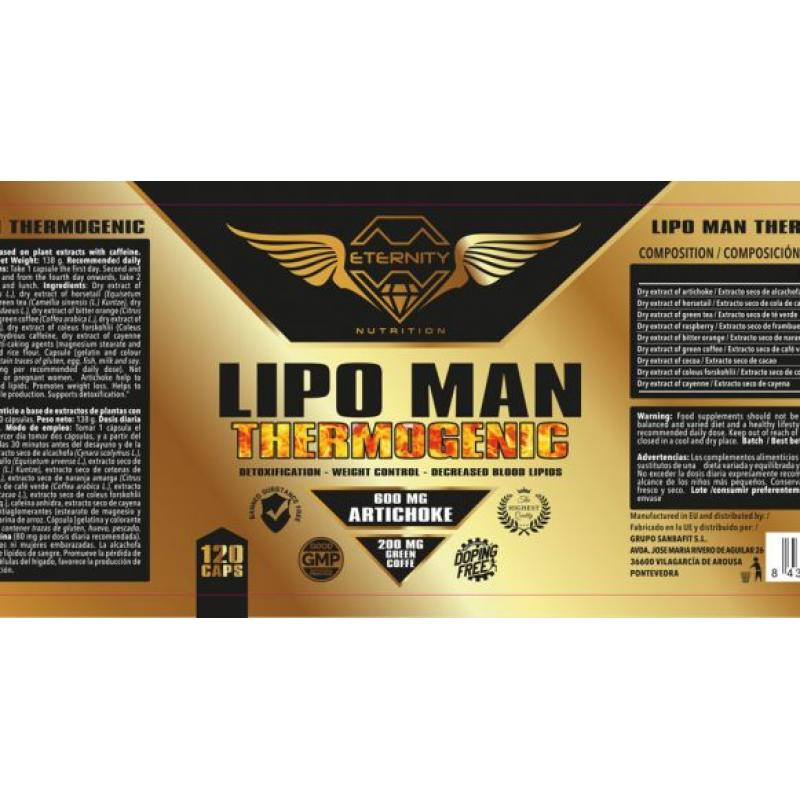 ETERNITY LIPO MAN THERMOGENIC 120CAP.