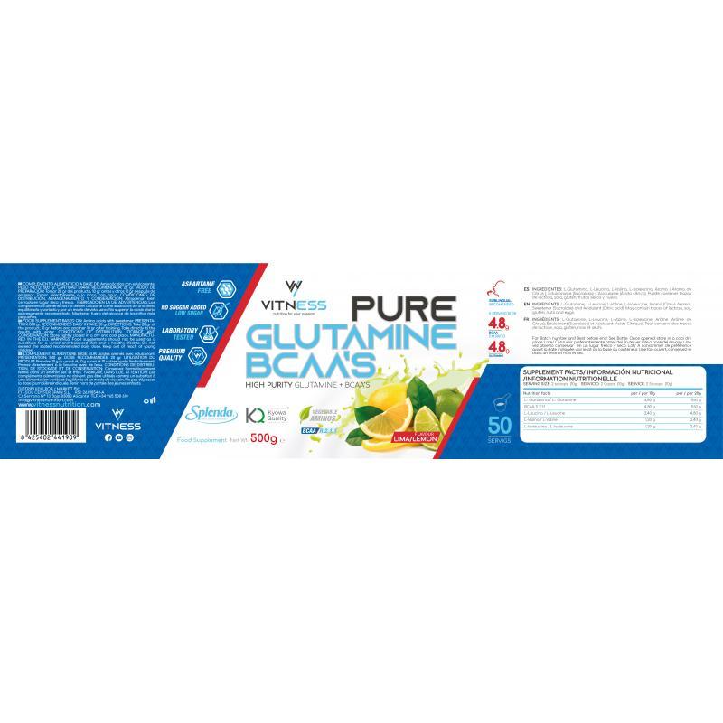 VITNESS GLUTAMINA + BCAA 500GR