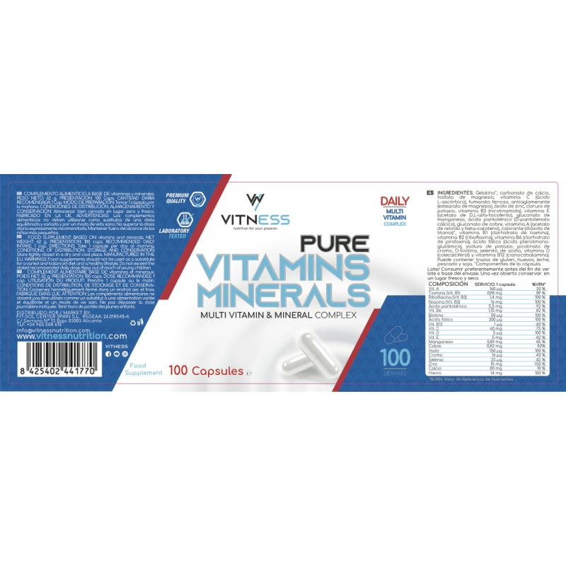 VITNESS VITAMINS AND MINERALS 100CAP